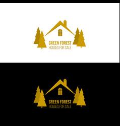 real estate logo design house abstract concept vector image