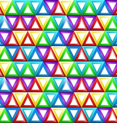 Seamless geometric pattern with triangles in vector image