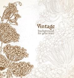 Wild flowers - umbrellas vintage background vector image vector image