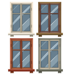 windows with four frames vector image vector image