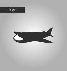black and white style icon toy airplane vector image