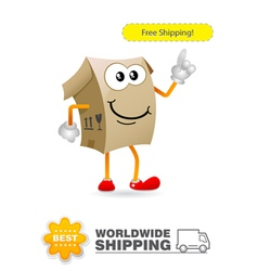 Shipping delivery character vector image vector image