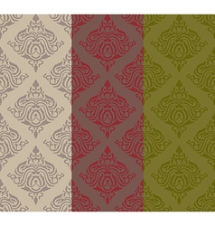 Three tone classic pattern vector image