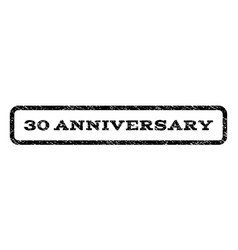 30 anniversary watermark stamp vector