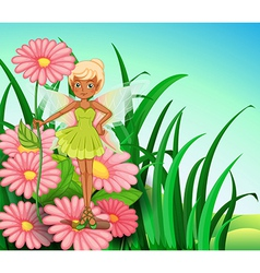 A fairy at the garden vector image