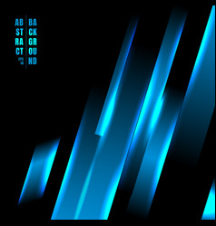 abstract blue color light oblique line technology vector image