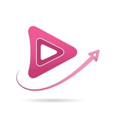 Arrow icon next symbol vector