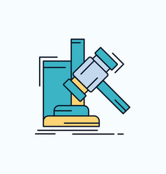 auction gavel hammer judgement law flat icon vector image