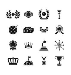 Award icons black competition awarding vector