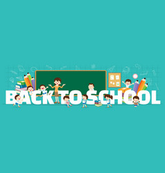 Back to school concept banner vector
