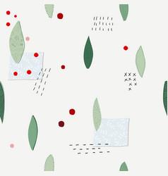 Christmas flower winter season collage pattern vector