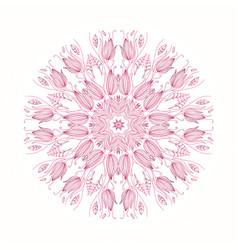 Circular floral pattern vector
