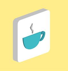 coffee cup computer symbol vector image