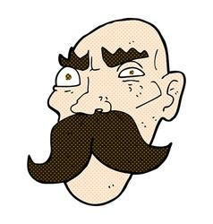comic cartoon angry old man vector image
