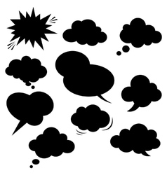 Comic speech bubble vector image