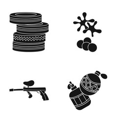 competition contest equipment tires paintball vector image