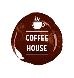 creative logo for coffee house with printed vector image