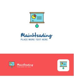 creative presentation chart logo design flat vector image