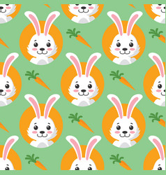 cute little bunny seamless pattern vector image