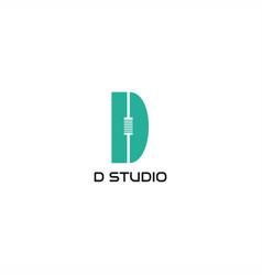 d studio logo vector image