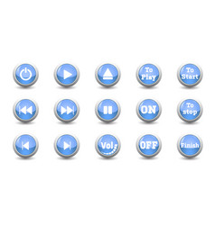 electronic and technology conceptsimple icon blue vector image