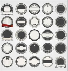 empty retro vintage badge collection vector image