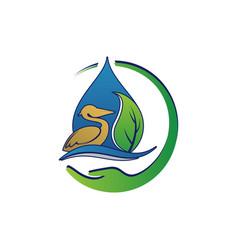 environmental sustainability logo sign earth vector image