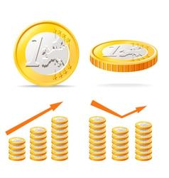 Euro coins vector