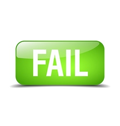 fail green square 3d realistic isolated web button vector image