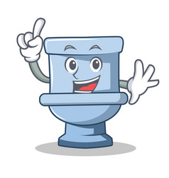 Finger toilet character cartoon style vector