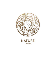 floral logo of rose vector image