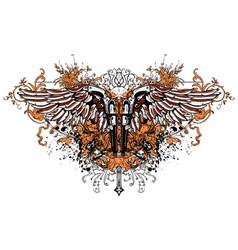 flying guns vector image