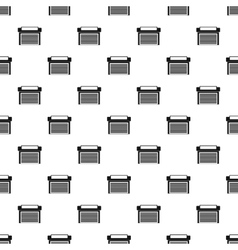 Garage with gate pattern simple style vector
