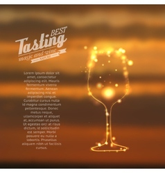 Glass shining with sparks vector