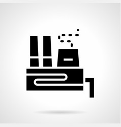glyph style icon for power plant vector image