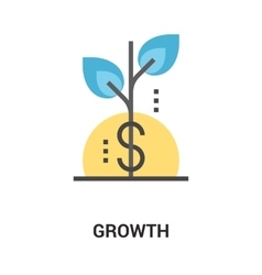 growth icon concept vector image