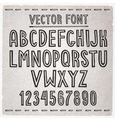 Hand drawn font alphabet vector