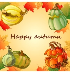 Happy autumn background vector image