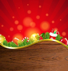 Happy Christmas Border With Sunburst vector image