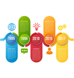infographics with steps or options vector image
