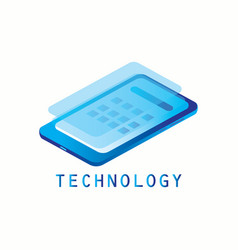 isometric smartphone technology vector image