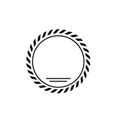 laurel wreath glyph icon and leaves in ring sign vector image
