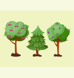 Leaves cartoon green tree summer leaf plant vector