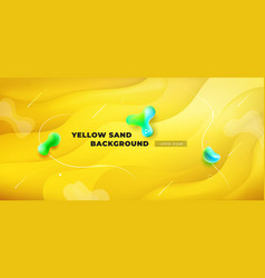 Liquid yellow color background design fluid vector