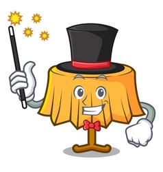 Magician table cloth mascot cartoon vector