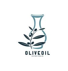 Modern olive oil logo template design olive oil vector