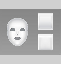 moisturizing sheet face mask realistic vector image