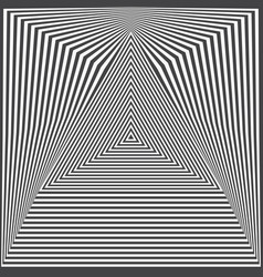 optical art with triangular and square shapes vector image