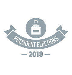 President debate logo simple gray style vector