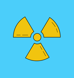 radioactive zone sign or symbol radioactivity vector image